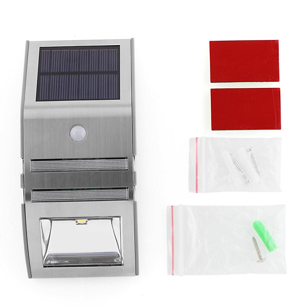 solarlampe mit bewegungsmelder led au enlampe leuchte wandlampe solar 2 20leds ebay. Black Bedroom Furniture Sets. Home Design Ideas