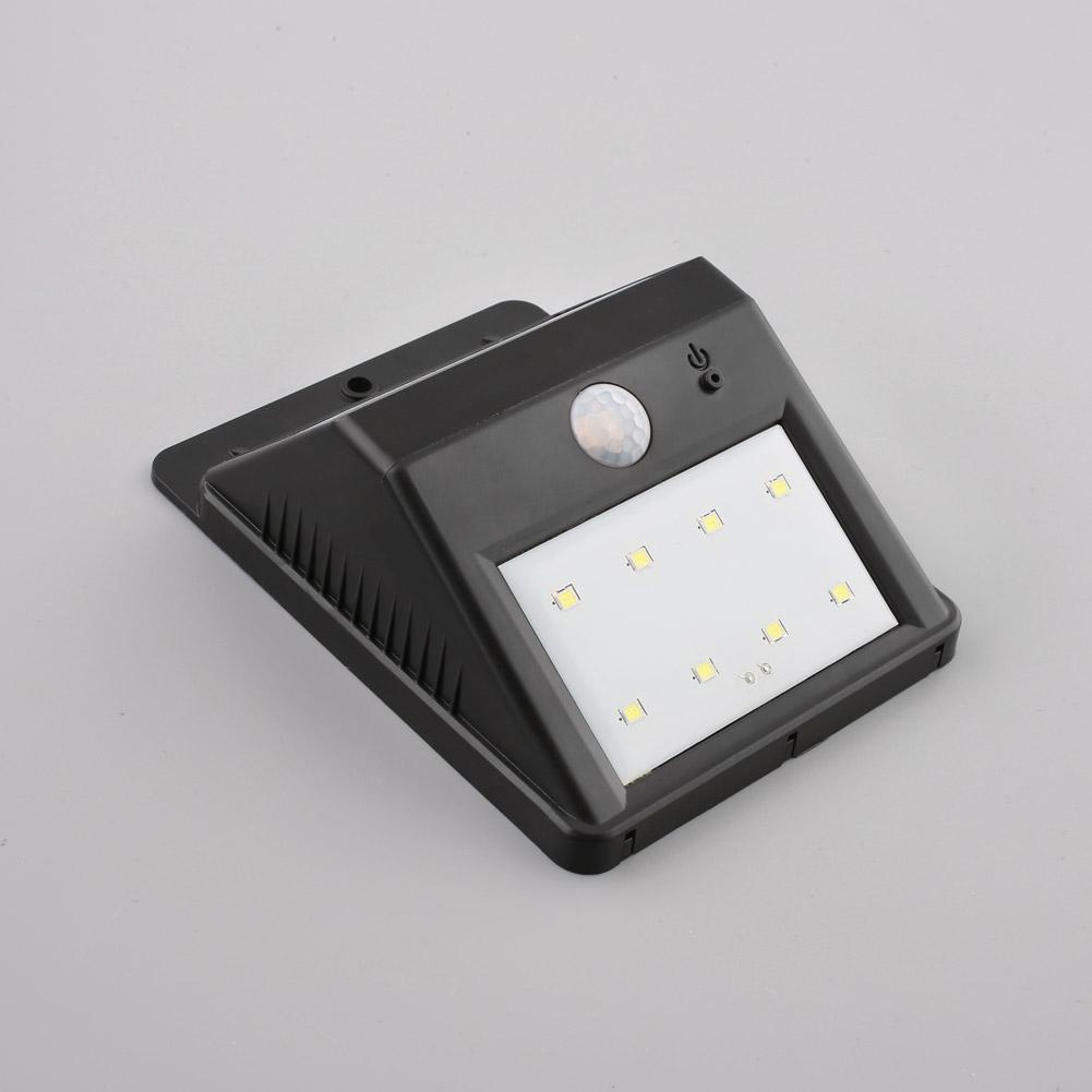 solarlampe wandlampe mit bewegungsmelder 8 led. Black Bedroom Furniture Sets. Home Design Ideas