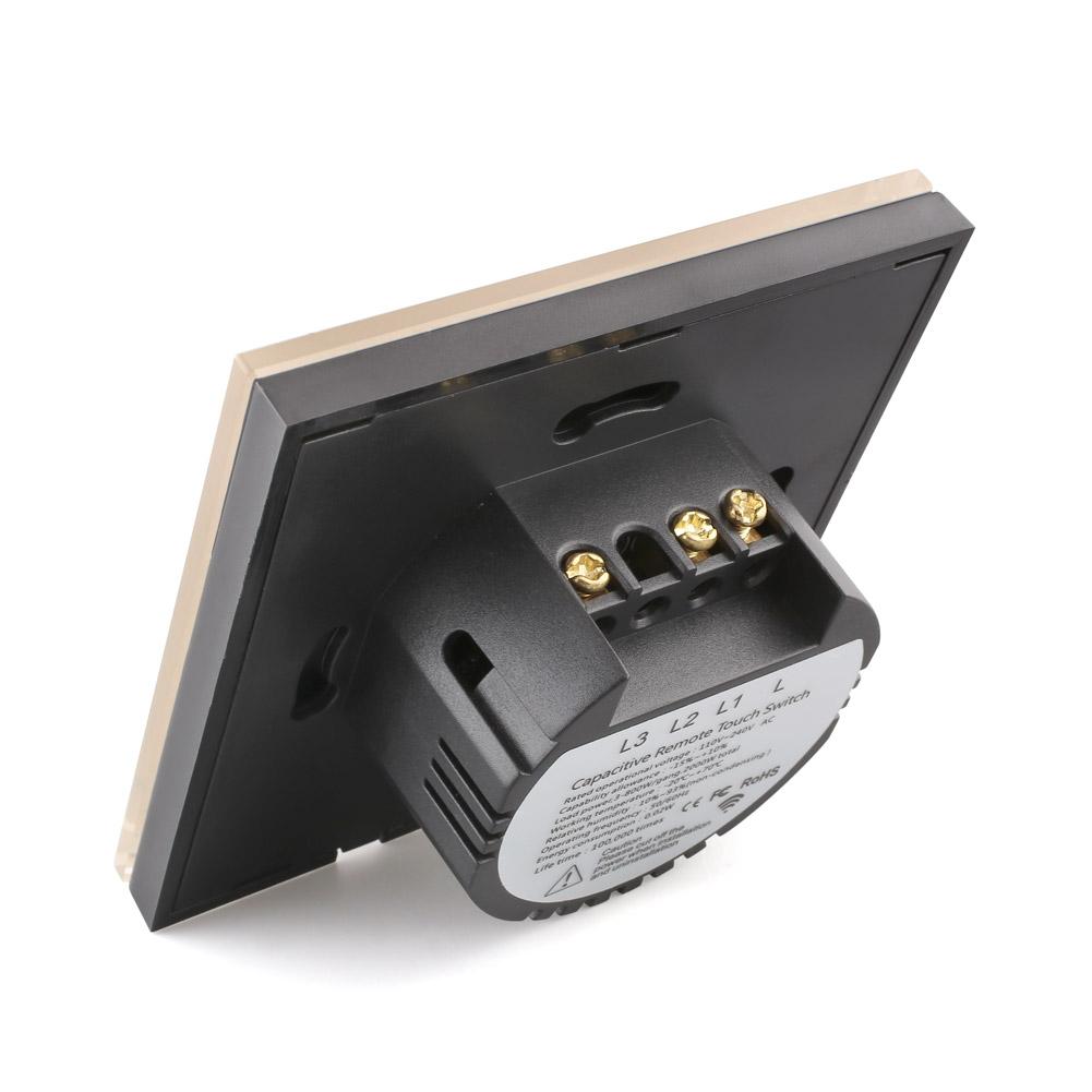 neu 2 gang touch lichtschalter ber hren light wandschalter fernbedienung dhl ebay. Black Bedroom Furniture Sets. Home Design Ideas