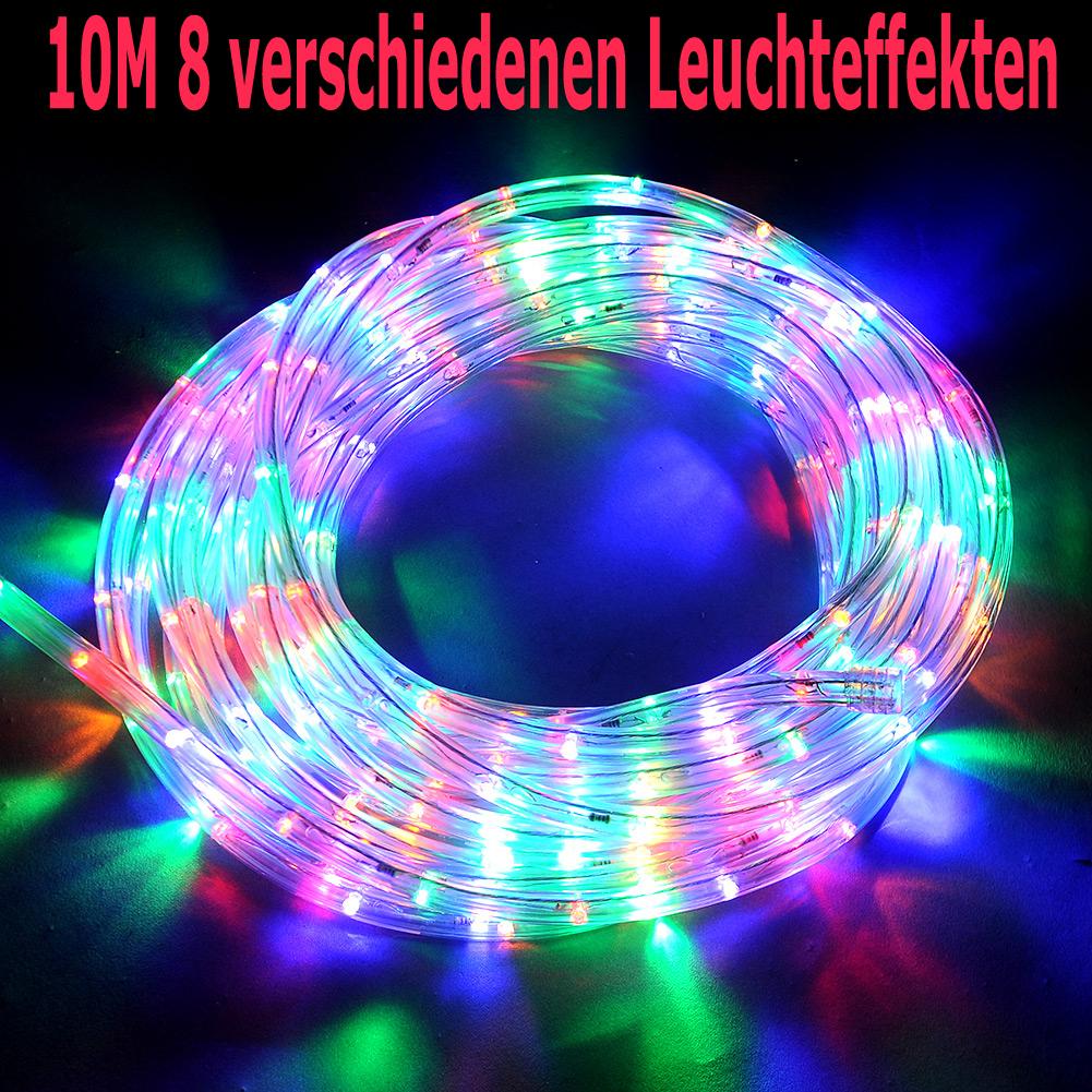 10m 20m lichterschlauch lichtschlauch lichterkette weihnachten 8 lichteffekt de ebay. Black Bedroom Furniture Sets. Home Design Ideas