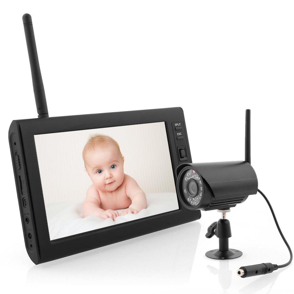 profi 7 4 kanal baby monitor 2 x funk kameras kinder berwachtungskamera dhl ebay. Black Bedroom Furniture Sets. Home Design Ideas