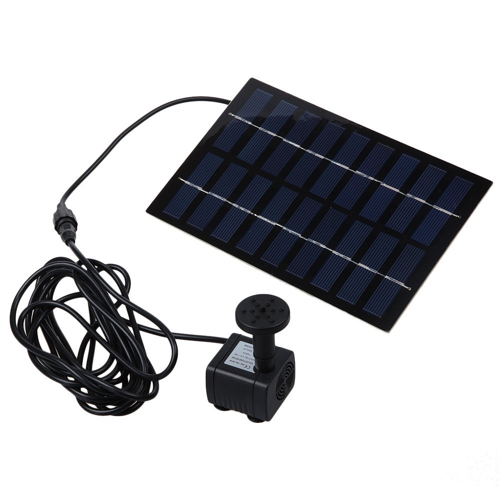 2016 solarpumpe teichpumpe solar springbrunnen wasser font ne1 8w 9v ebay. Black Bedroom Furniture Sets. Home Design Ideas