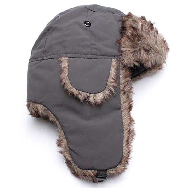 5DFD Trapper Bomber Warm Russian Trooper EAR FLAPS Winter Ski Hat Men Women