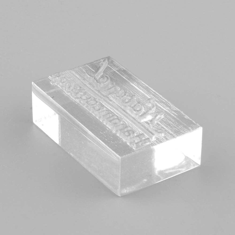 Nice Acrylic Natural Word Design Handmade Clear Soap Stamp Mold Mould DIY Art