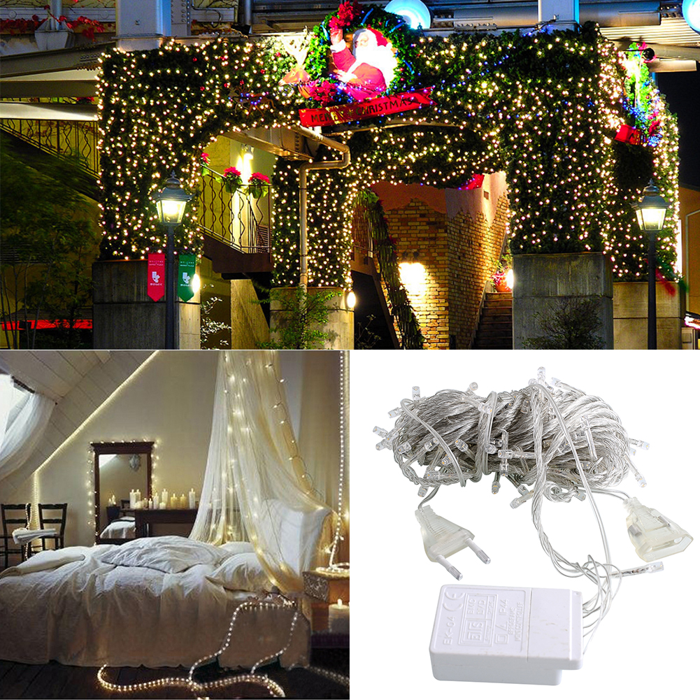 4F9F-10M-100-LED-Fairy-String-Light-Xmas-Wedding-Party-Decor-Garden-Lamp-220V