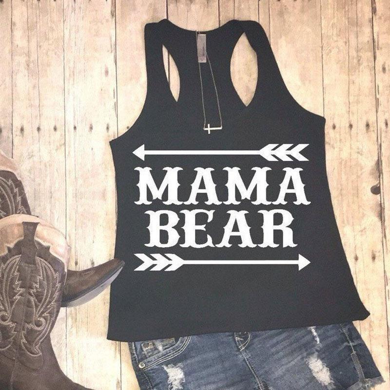 6DEA-Womens-Tank-Crop-Top-Sleeveless-Loose-Mama-bear-Tee-T-Shirt-Cropped-Vest