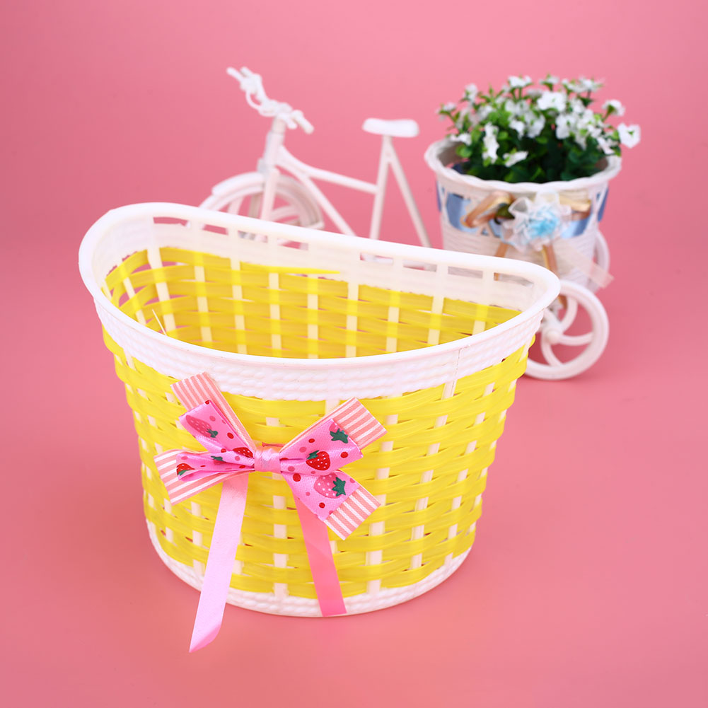 CE77-Outdoor-Bicycle-Panniers-Bike-Cycle-Bowknot-Front-Basket-For-Children-Girl