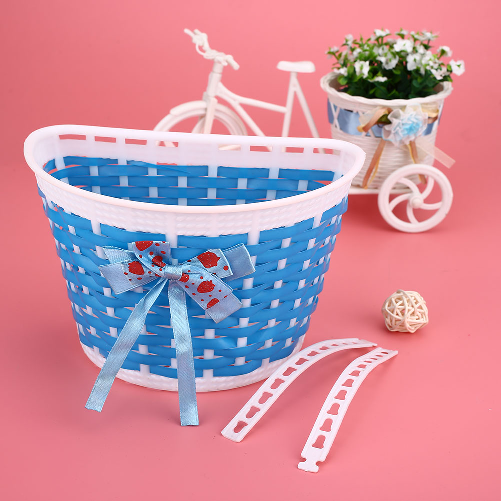 384C-Outdoor-Bicycle-Bags-Panniers-Bike-Bowknot-Front-Basket-For-Children-Girl