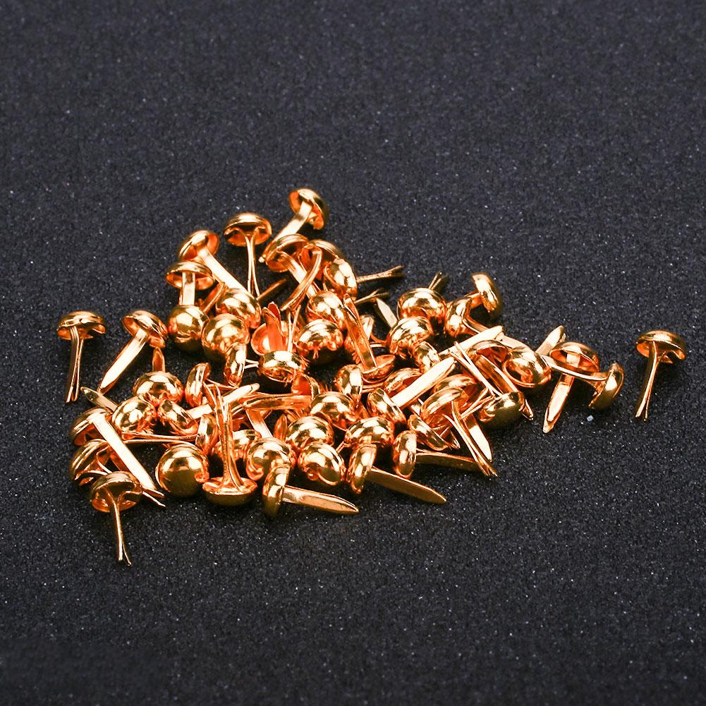 2E2D-DIY-50PCS-8Color-Metal-Round-Rotating-Buttons-Brads-Accessories-Vintage