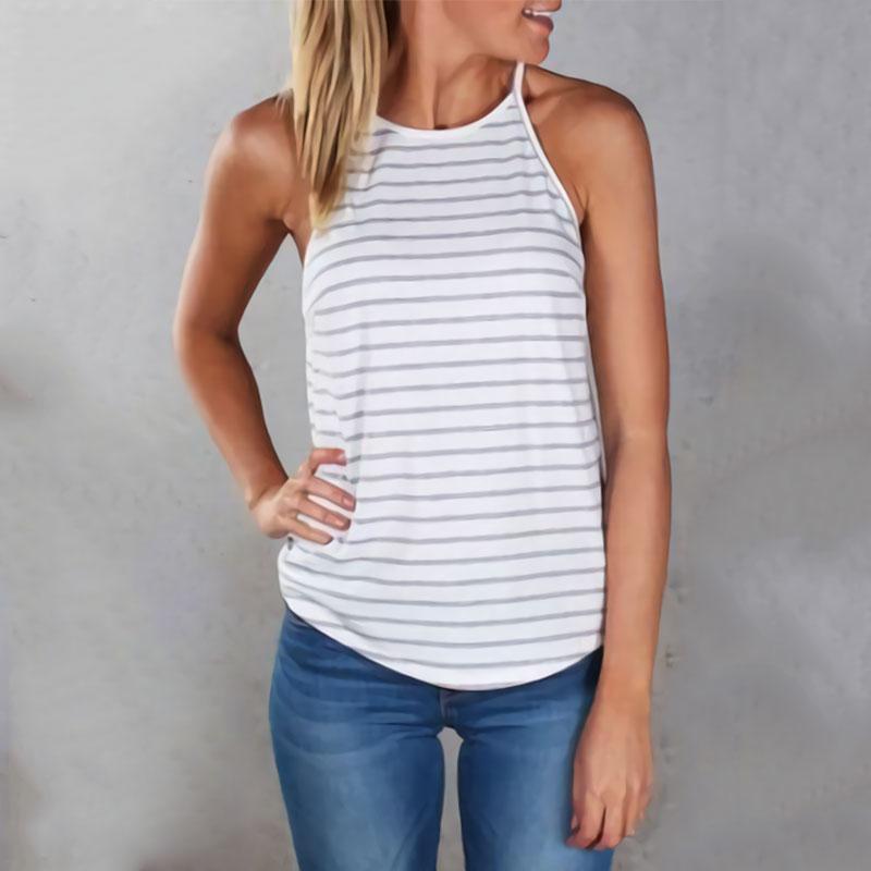 5081-Summer-Beach-Girls-Striped-Sleeveless-Causal-Shirt-Loose-Cami-Vest-Top-NWT