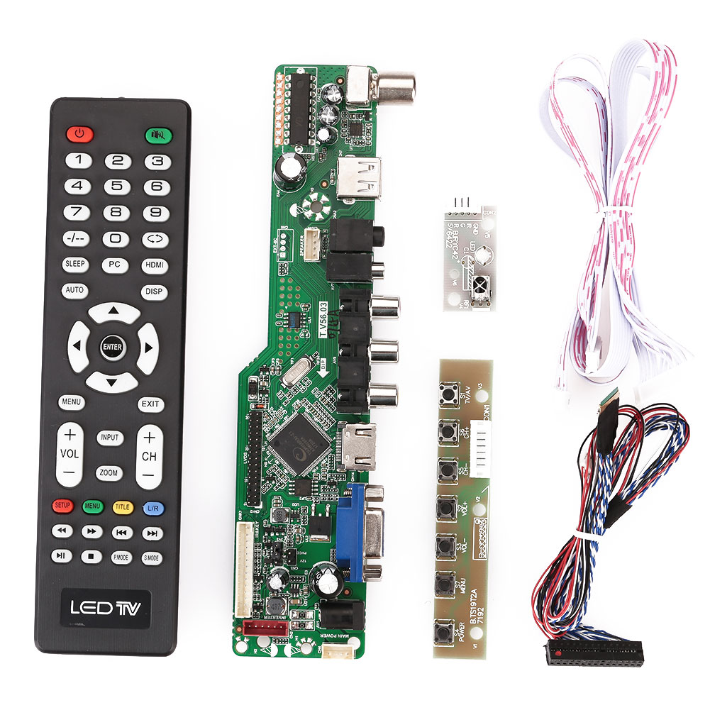 d56a lcd controller board tv hdmi vga av usb universal supportdetails about d56a lcd controller board tv hdmi vga av usb universal support 1920x1080 screen