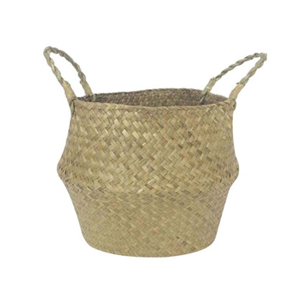 2E14-Storage-Basket-Woven-Handheld-Toy-Handle-Bag-Laundry-Organizer-Foldable