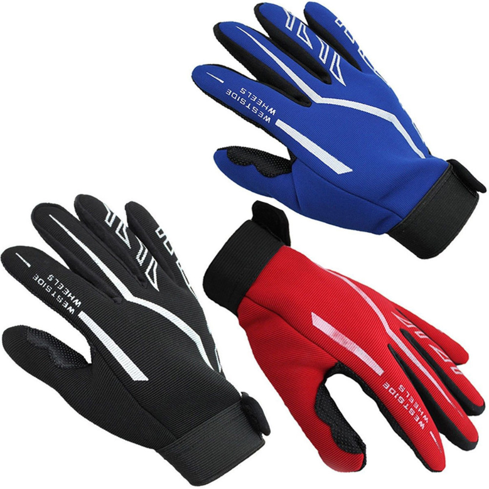 Mens Full Finger Gloves Exercise Fitness & Workout Gloves Gloves Black