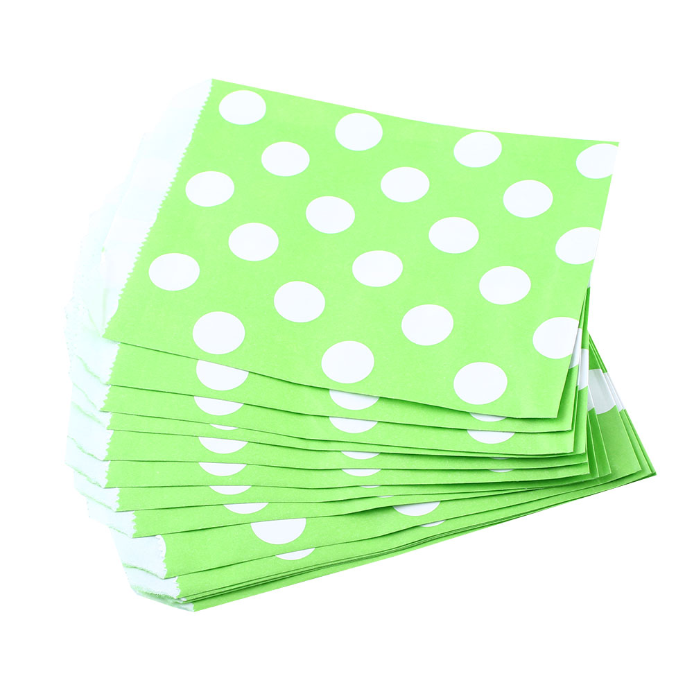 D845-25X-Polka-Dot-Birthday-Sweet-Candy-Favour-Treat-Paper-Party-Bags-8Color