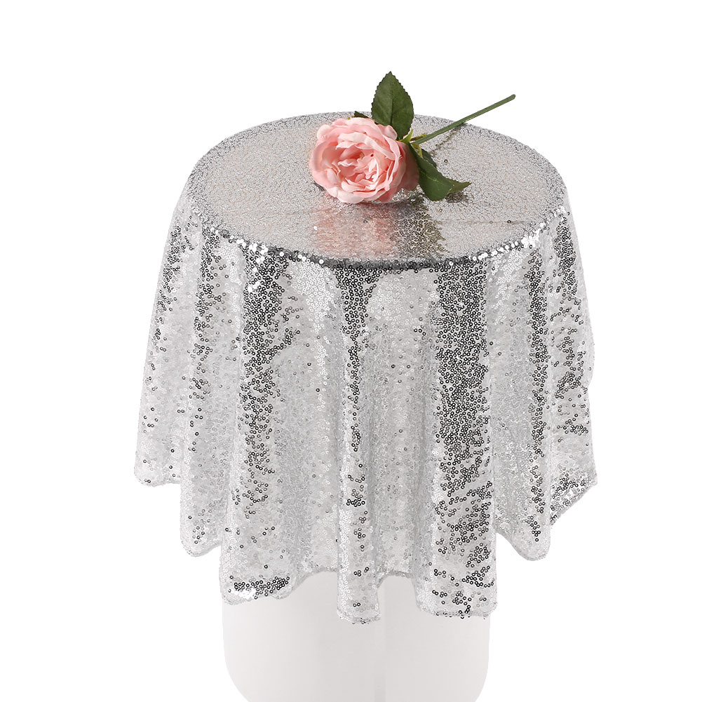 FED5-80cm-Sequin-Tablecloth-Round-Designed-Festival-Gold-Champagne-Decoration