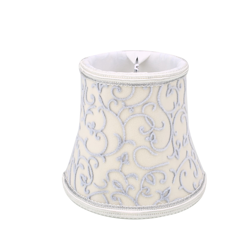 33A9-Vintage-Cloth-European-Crystal-Candle-Chandelier-Wall-Lamp-Lampshade-Cafe