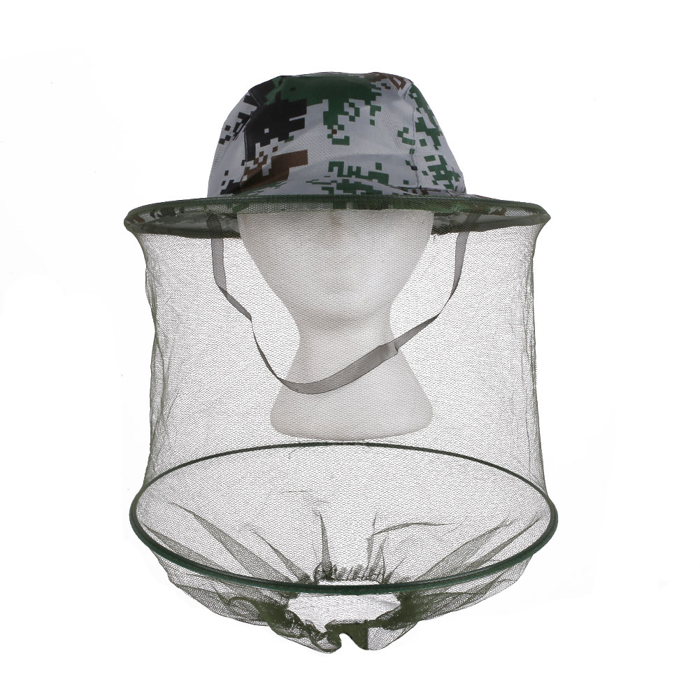 3D52-Jungle-Camouflage-Field-Face-Mesh-Mask-Cap-Mosquito-Bee-Insect-Outdoor-Hat