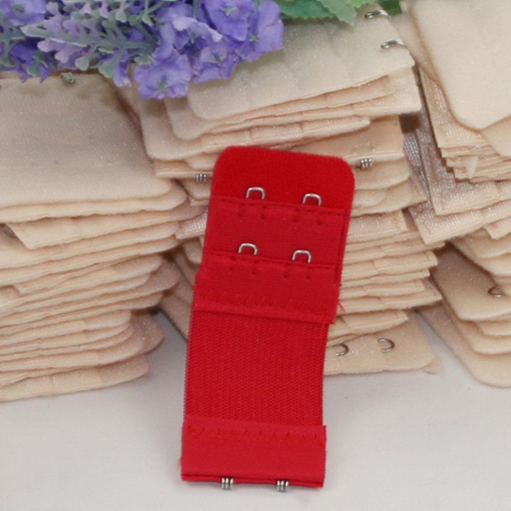 E179-Bra-Strap-Women-Extender-Clasp-Hook-Elastic-2-Row-2-3-Hooks-Multicolor