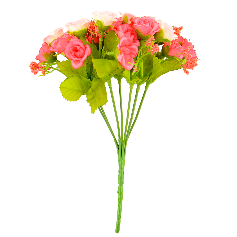 510B-21pcs-Artificial-Rose-Flower-Silk-Flower-Arrangement-Home-Room-Decoration