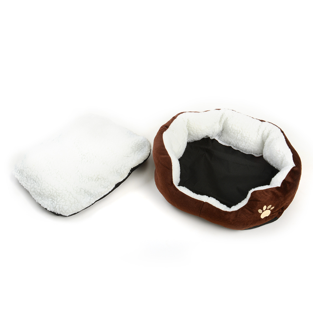 E597-Pet-Dog-Cat-Kitten-Fleece-Bed-House-Kennel-Plush-Mat-Pad-Medium-Washable