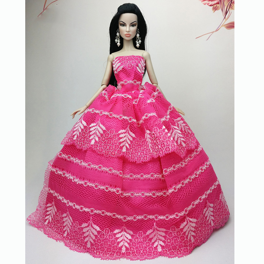Handmade Fashion Wedding Gown Dresses Girl Party For Barbie Doll ...