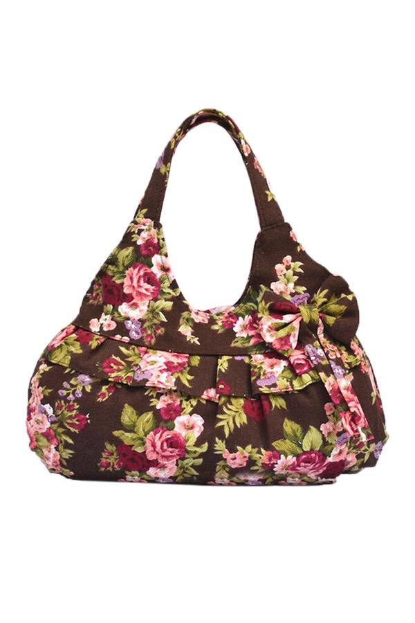 ABF9-New-Women-Floral-Flower-Leopard-Print-Canvas-Zipper-Casual-Handbag-Bags