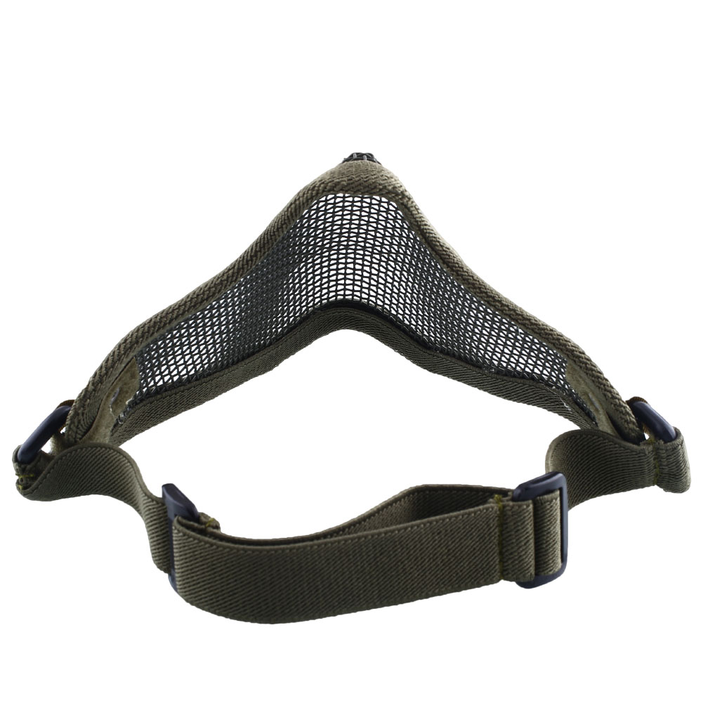 036C-Metal-Steel-Net-Mesh-Airsoft-Paintball-Protective-Half-Face-Mask-3Color