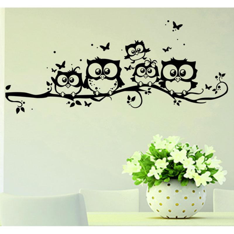 c9a00dd papillon noir parrot mur autocollant vinyle s jour tv mural home decor ebay. Black Bedroom Furniture Sets. Home Design Ideas