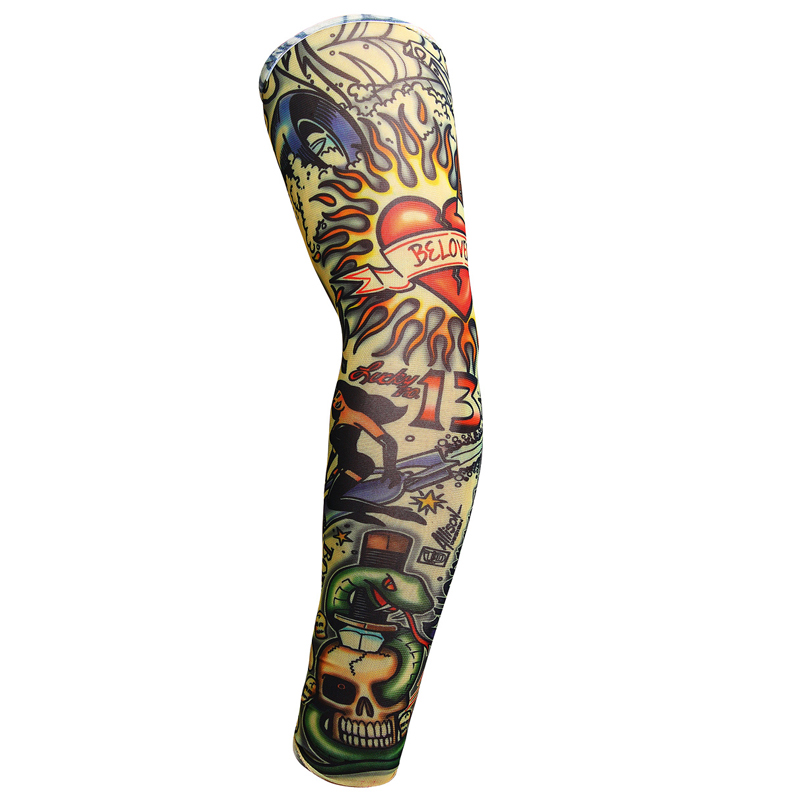 48C0-Stretchy-Tattoo-Suncreen-Sleeves-Nylon-Arm-Glove-Sleeve-Cycling-Riding