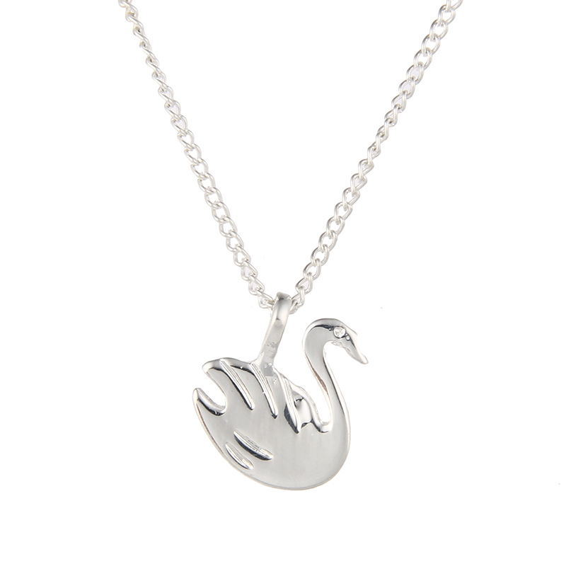 7769-Fashion-Exquisite-Lady-Golden-Silver-Swan-Pendant-Necklace-Chain-Jewelry