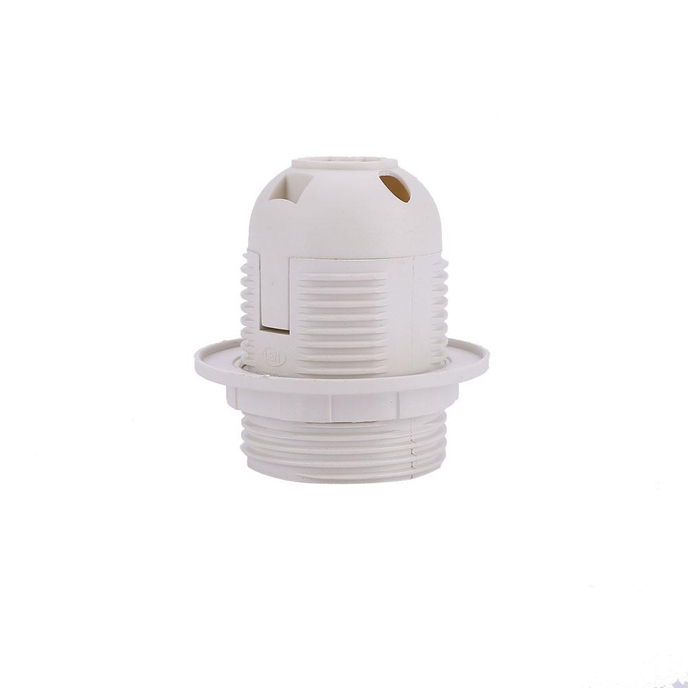 14A9-E27-LED-Light-Lamp-Holder-Base-Screw-Socket-Lighting-Parts-White-Black
