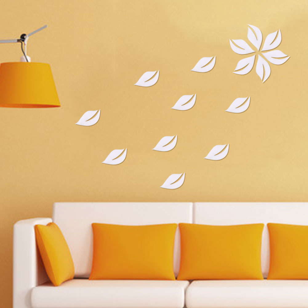 89C9-6Pcs-Leaves-Wall-Stickers-Decals-Art-Home-Decoration-Multicolor-Creative