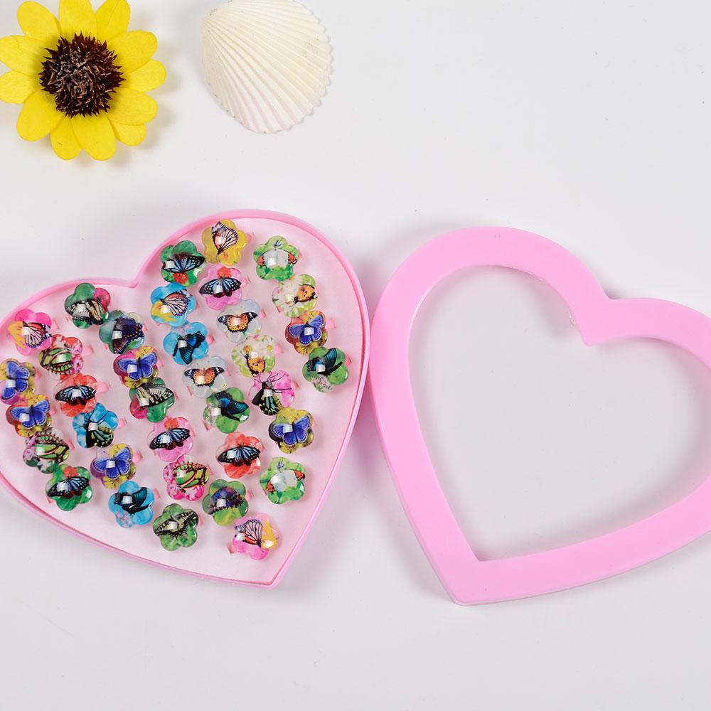 1E23-20Pcs-Children-Kids-Baby-Girls-Rings-Resin-Children-Jewelry-Random-Color