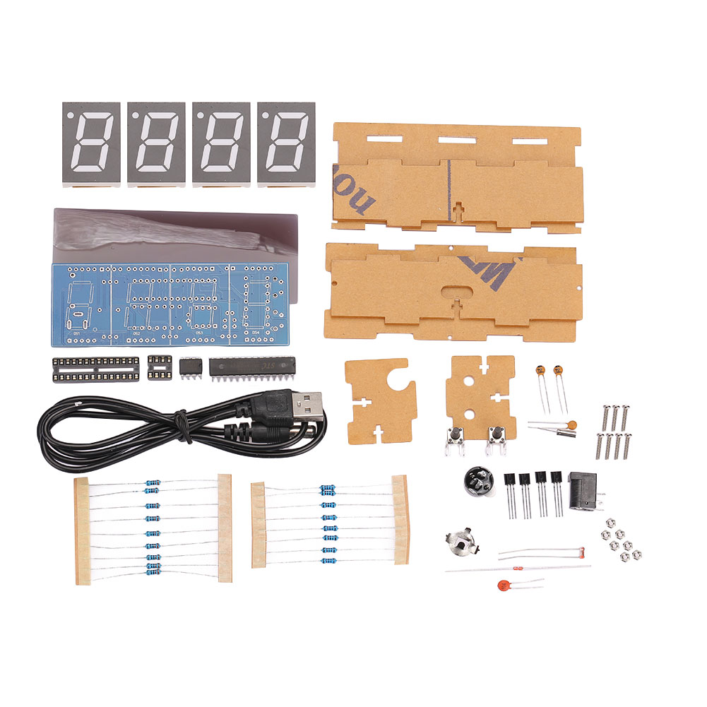A26F-Microcontroller-DIY-Kit-Digital-Electronic-Clock-Home-Alarm-Clocks