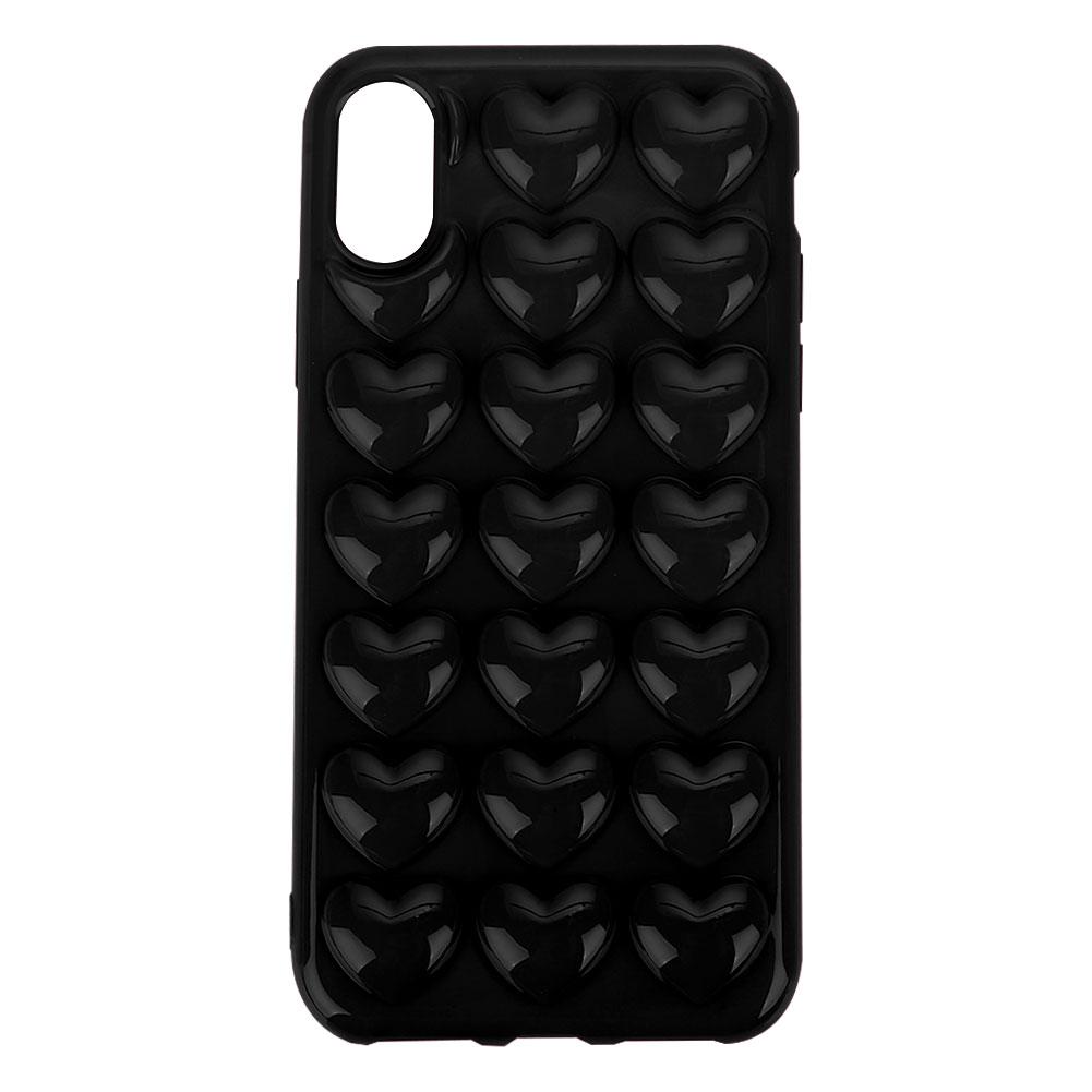 Fuer-iPhone-X-Handyhuelle-3D-Herz-Schoen-Anti-Scratch-Staubdicht-TPU