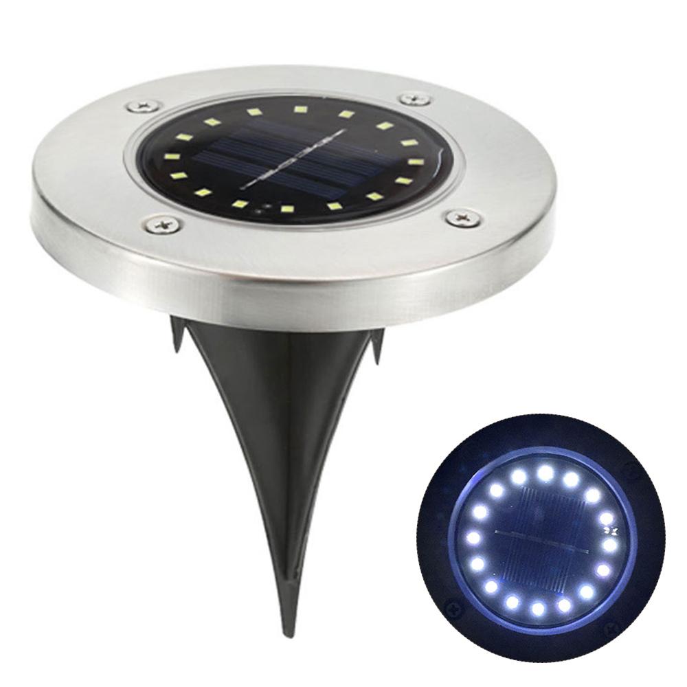 led solar leuchte edelstahl wasserdicht lampe gartenleuchten bodenstrahler ebay. Black Bedroom Furniture Sets. Home Design Ideas