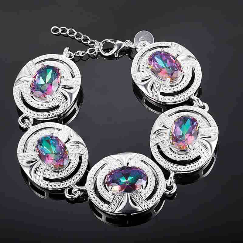 E9DA-Rainbow-Silver-Plated-Crystal-Wedding-Ring-Bracelet-Necklace-Jewelry-Gifts