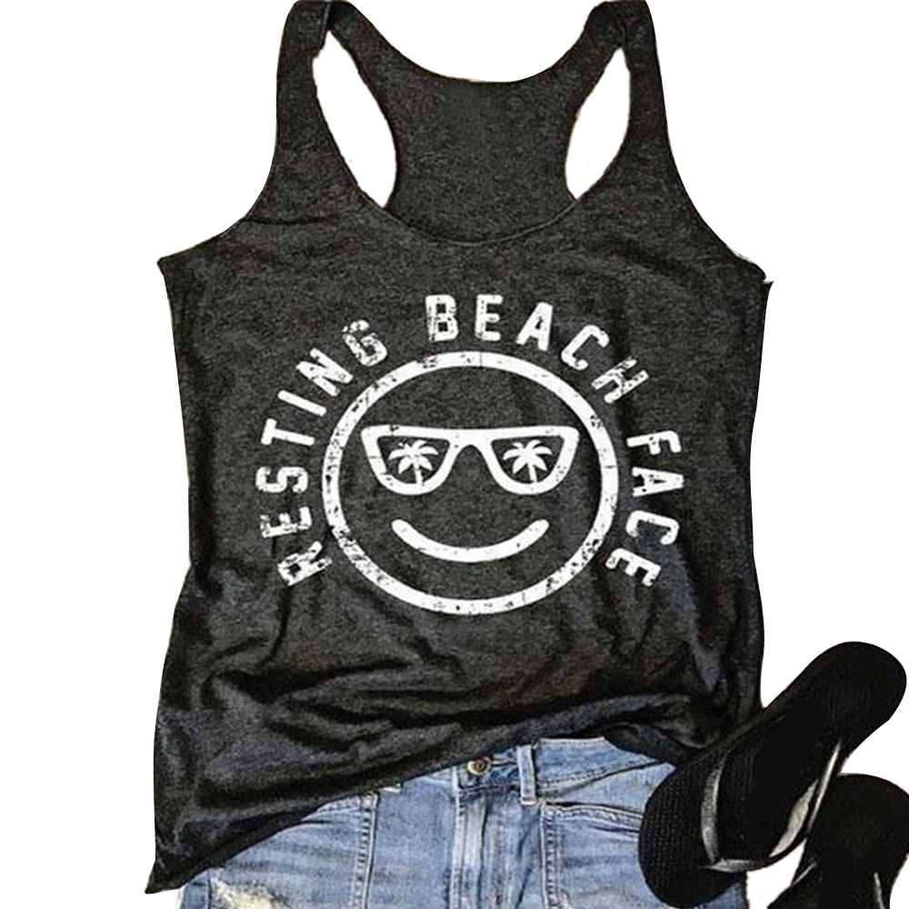 FC5C-New-Womens-Lady-Fashion-Resting-Beach-Face-Tee-Sleeveless-Vest-Cami-Blouse