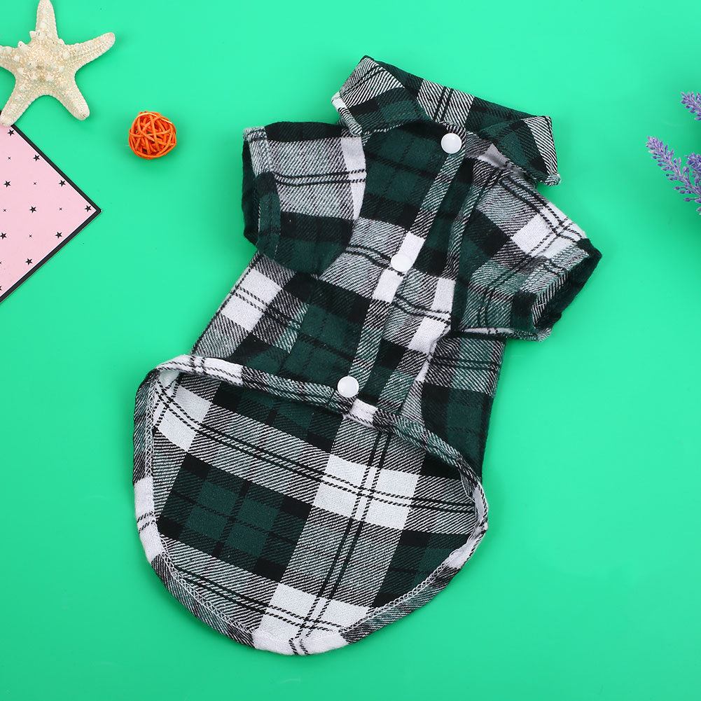 F1B2-Pet-Dog-Plaid-Stripe-Shirt-Clothes-Cotton-Spring-Summer-Costumes-Jacket