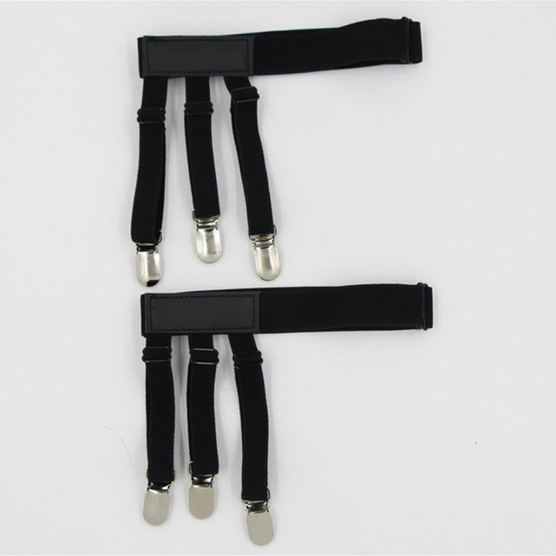 CD24-2PCS-Holders-Elastic-Shirt-Garter-1Pair-Non-Slip-Clamps-Belt-Suspenders