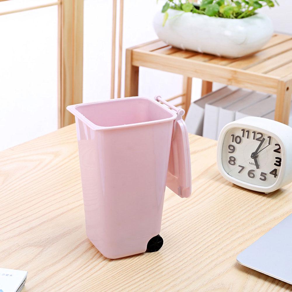 1E3D-Sturdy-Plastic-Wheelie-Trash-Can-Storage-Bin-Dustbin-Dust-Desktop-Pen