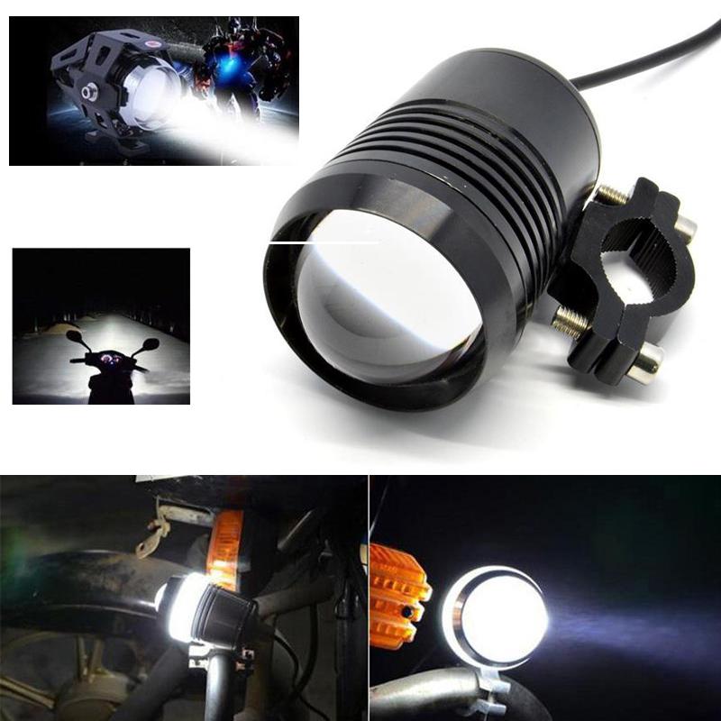 2x 30W LED Motorcycle Streetfighter Bike Headlight Fog Spot Light Lamp Off-road