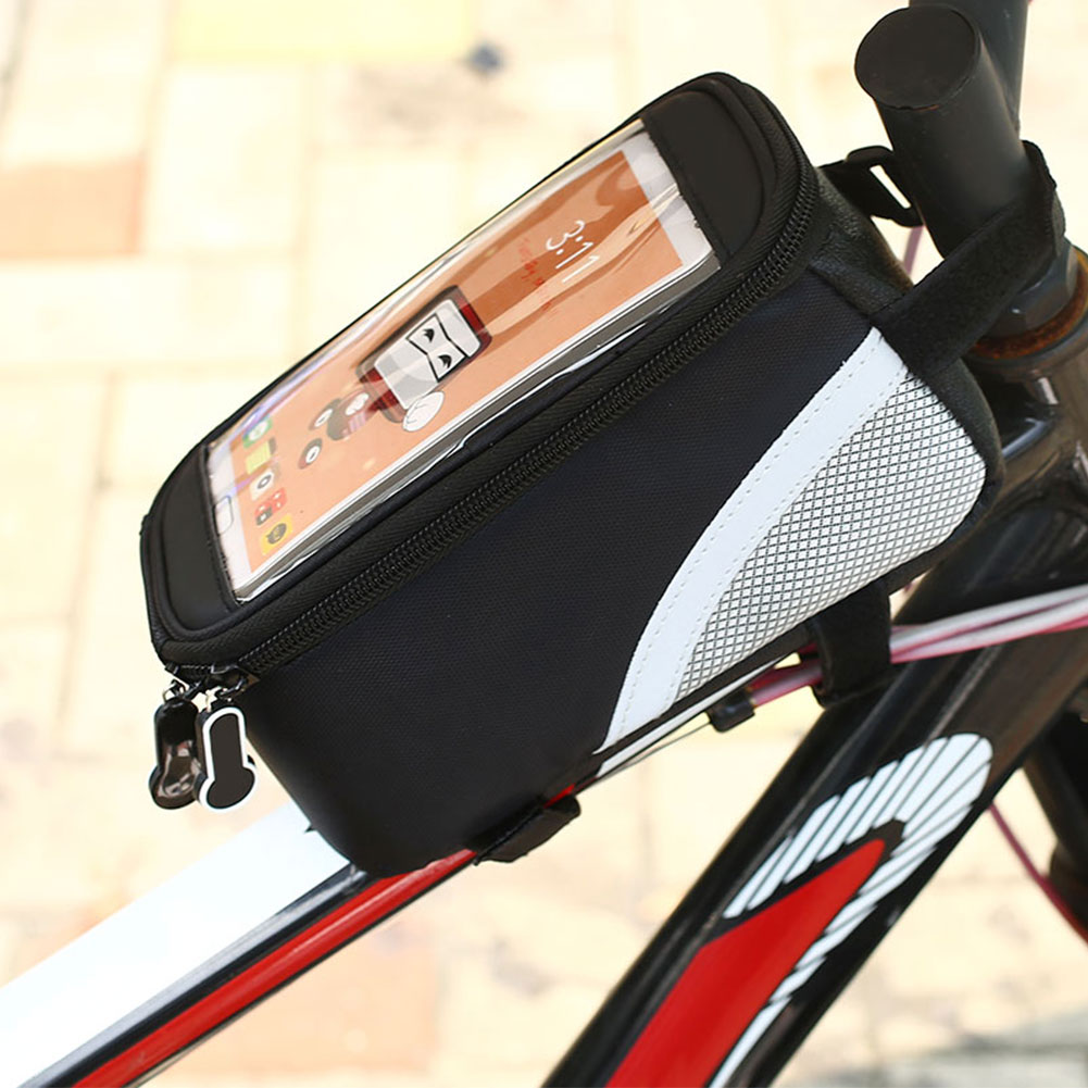 Newest Waterproof Bike Bicycle Pouch Frame Pannier Front Tube phone Double Bags