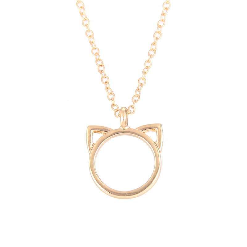 1657-Women-Necklace-Cat-Ears-Collarbone-Choker-Pendant-Charm-Bling-Jewelry-Gift