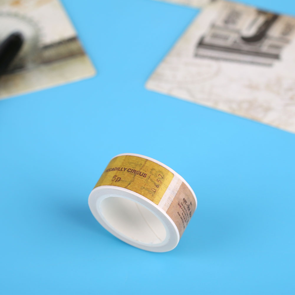 94D6-Gothic-Vintage-Washi-Paper-Adhesive-Tape-Scrapbook-Masking-Sticker-20MM