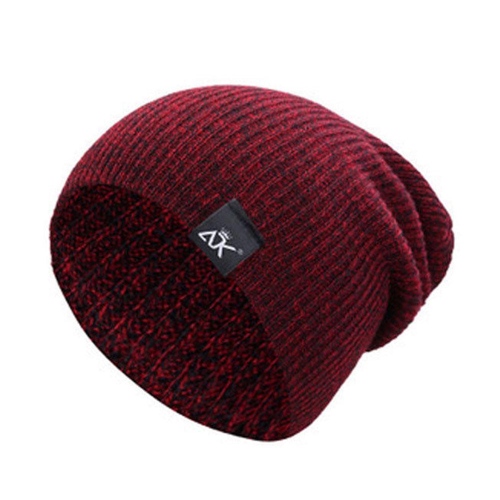 9481-Men-039-s-Women-Beanie-Knit-Ski-Cap-Hip-Hop-Blank-Color-Winter-Warm-Wool-Hat