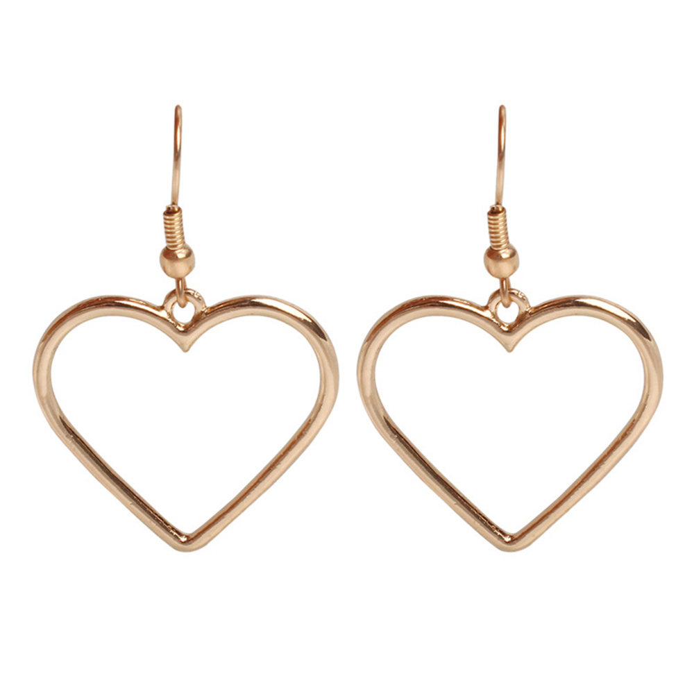 3E79-Alloy-Heart-Charm-Fashion-Costume-Women-Party-Ear-Studs