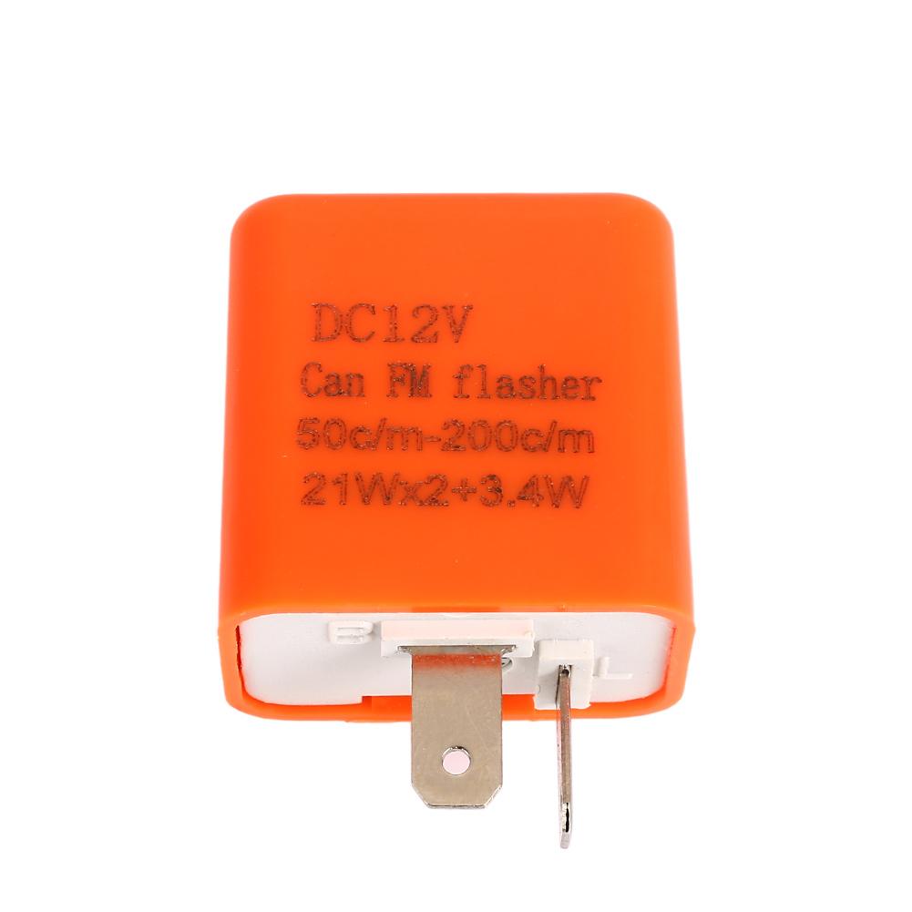2 Pin Speed Adjustable Led Flasher Relay Motorcycle Turn Signal Electronic Indicator