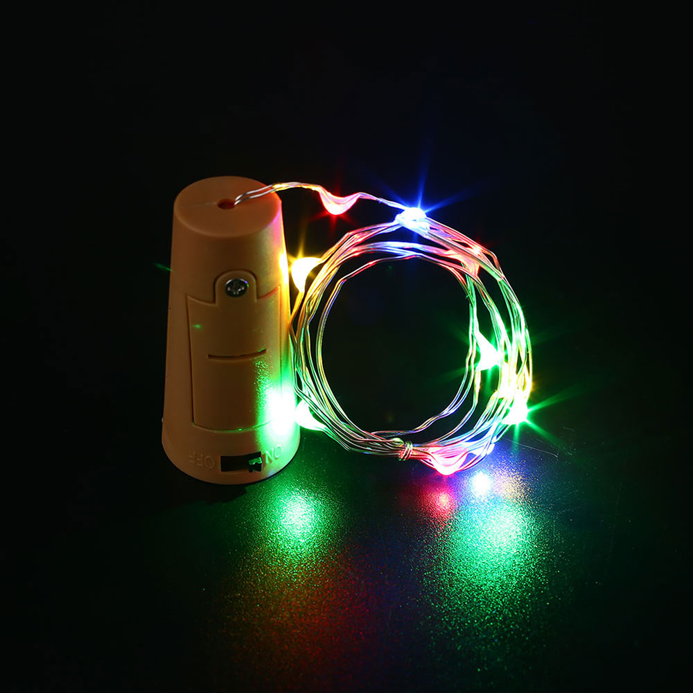 lichterkette flaschenkorken flaschenbeleuchtung mit 20 micro led ebay. Black Bedroom Furniture Sets. Home Design Ideas