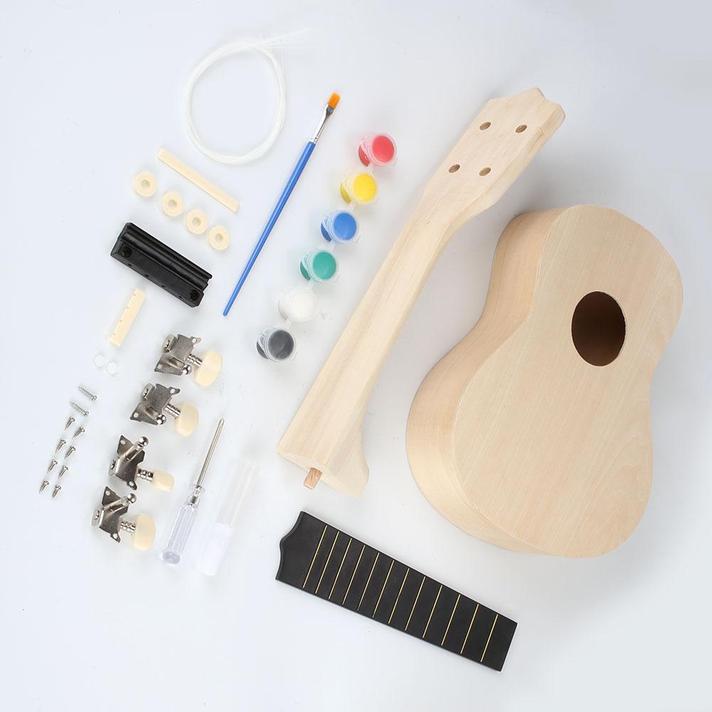 make your own 21 39 39 ukulele soprano diy kit painting toys with painting kit ebay. Black Bedroom Furniture Sets. Home Design Ideas